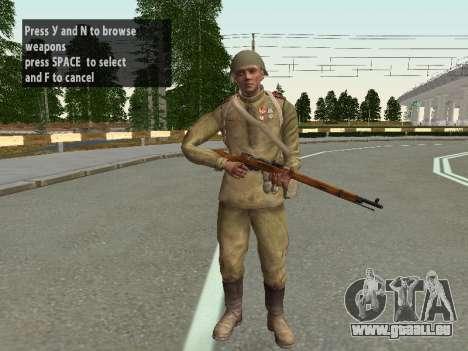 Les soldats de l'armée rouge dans le casque pour GTA San Andreas
