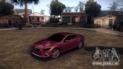 Mazda 6 2013 HD v0.8 beta pour GTA San Andreas sur la vue arrière gauche
