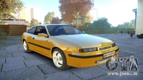 Opel Calibra v2 pour GTA 4 est une vue de l'intérieur