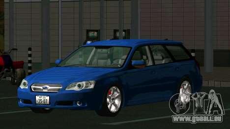 Subaru Legacy Touring Wagon 2003 für GTA San Andreas zurück linke Ansicht