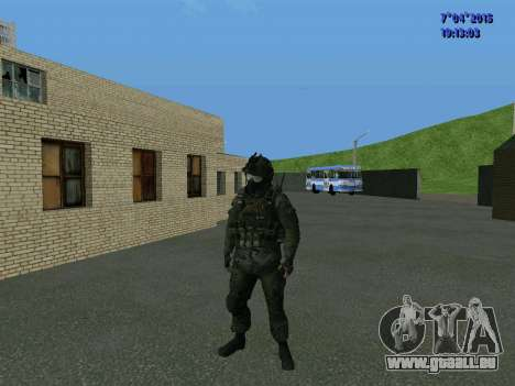 SWAT pour GTA San Andreas troisième écran