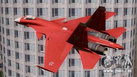 SU-37 Flanker-F Soviet Parade pour GTA San Andreas laissé vue
