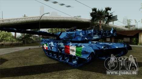 Blau militärische Tarnung für tank für GTA San Andreas