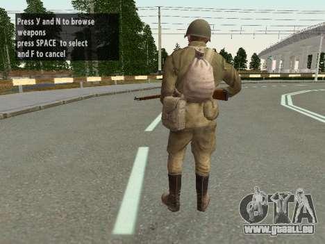Les soldats de l'armée rouge dans le casque pour GTA San Andreas sixième écran