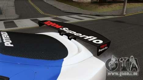 Toyota Supra 2005 EXXON SuperFlo pour GTA San Andreas vue de droite