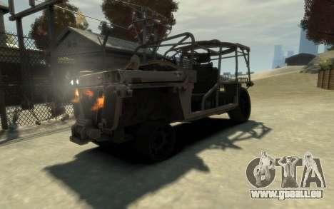 M1161 Growler für GTA 4 Rückansicht