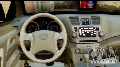 Toyota Hilux SW4 2009 ROTA für GTA San Andreas Innenansicht
