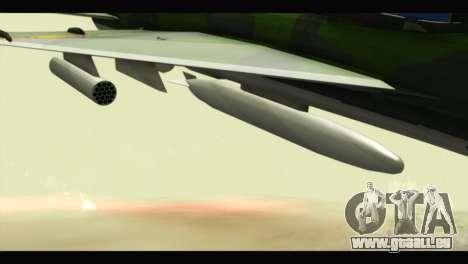 Mikoyan-Gurevich MIG-21UM Vietnam Air Force v2.0 pour GTA San Andreas vue de droite