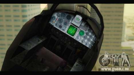 Northrop F-5E Top Gun pour GTA San Andreas vue arrière