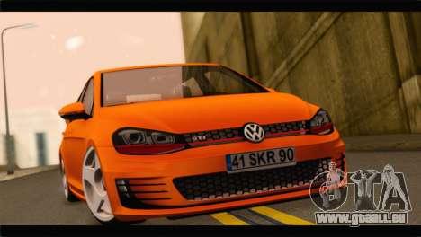 Volkswagen Golf GTI 2014 pour GTA San Andreas sur la vue arrière gauche