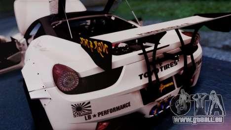 Ferrari 458 Italy Liberty Walk LB Performance für GTA San Andreas Rückansicht