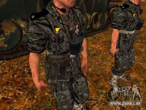 Deutsche Panzer-Kommandant für GTA San Andreas her Screenshot