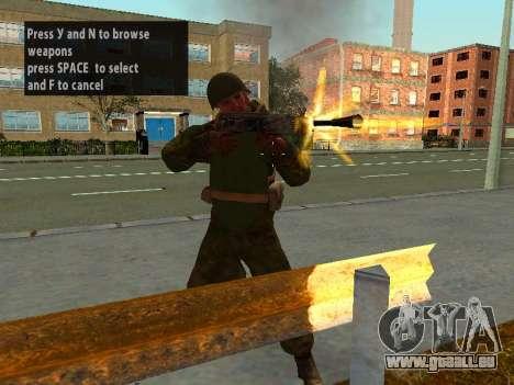 Soldaten der roten Armee in die Rüstung für GTA San Andreas her Screenshot