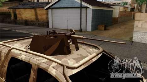 Dacia Duster Army Skin 4 für GTA San Andreas Rückansicht