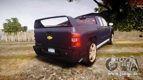 Chevrolet Silverado 1500 LT Extended Cab wheels2 für GTA 4 hinten links Ansicht