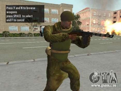 Les soldats de l'armée rouge dans l'armure pour GTA San Andreas deuxième écran