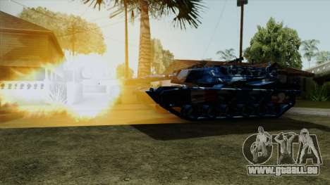 Bleu militaire en tenue de camouflage pour le ré pour GTA San Andreas sur la vue arrière gauche