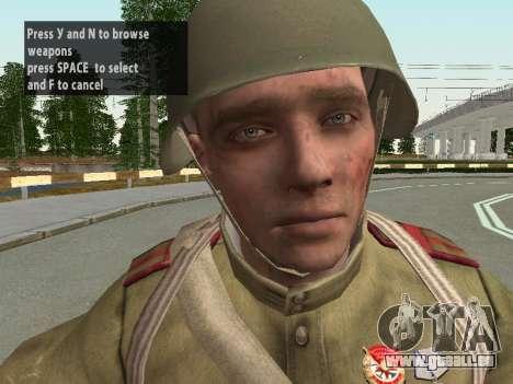 Les soldats de l'armée rouge dans le casque pour GTA San Andreas deuxième écran