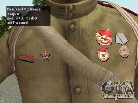 Soldaten der roten Armee in den Helm für GTA San Andreas neunten Screenshot