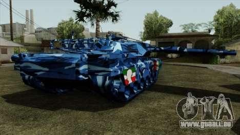 Blau militärische Tarnung für tank für GTA San Andreas linke Ansicht