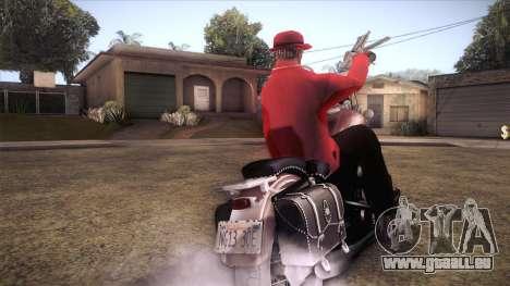 Custom Chopper pour GTA San Andreas sur la vue arrière gauche