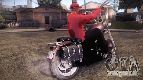 Custom Chopper pour GTA San Andreas laissé vue
