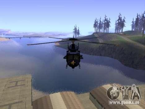 GTA 5 Valkyrie pour GTA San Andreas vue intérieure