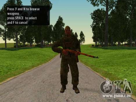Les soldats de l'armée rouge pour GTA San Andreas
