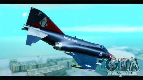 McDonnell Douglas F-4E RAF pour GTA San Andreas laissé vue