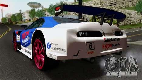 Toyota Supra 2005 EXXON SuperFlo pour GTA San Andreas laissé vue