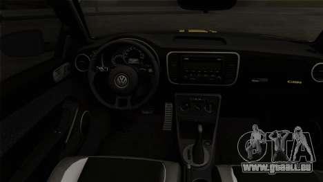 Volkswagen New Beetle 2014 GSR pour GTA San Andreas sur la vue arrière gauche