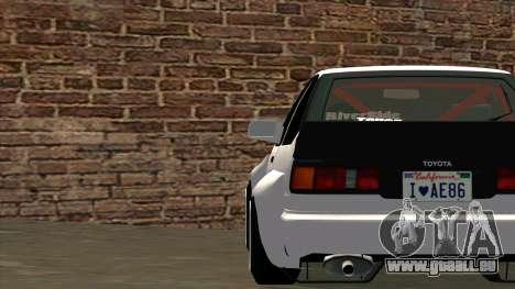 Toyota AE86 für GTA San Andreas obere Ansicht