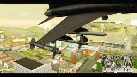 Northrop F-5E Top Gun pour GTA San Andreas vue de droite