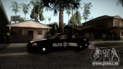 Dodge Charger 2013 Policia Federal Mexico pour GTA San Andreas sur la vue arrière gauche