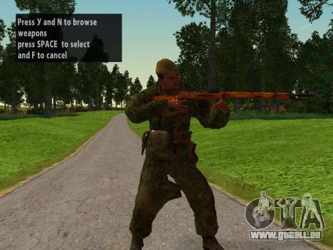 Les soldats de l'armée rouge pour GTA San Andreas deuxième écran