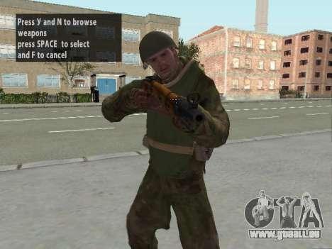 Les soldats de l'armée rouge dans l'armure pour GTA San Andreas troisième écran