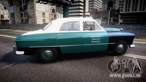 Ford Custom Deluxe Fordor 1949 New York Police pour GTA 4 est une gauche