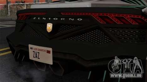 GTA 5 Pegassi Zentorno SA Style pour GTA San Andreas vue arrière