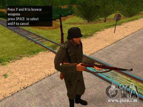 French soldiers pour GTA San Andreas troisième écran