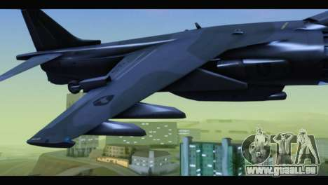 AV-8B Harrier Estovakian Air Force für GTA San Andreas rechten Ansicht
