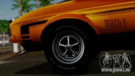 Ford Mustang Mach 1 429 Cobra Jet 1971 HQLM pour GTA San Andreas sur la vue arrière gauche