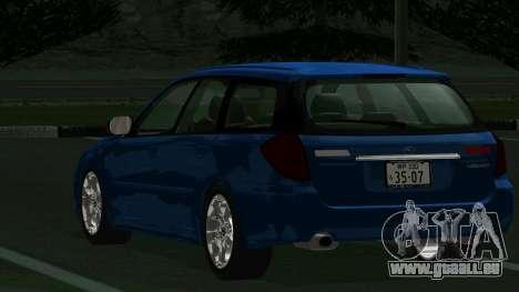 Subaru Legacy Touring Wagon 2003 pour GTA San Andreas vue de droite