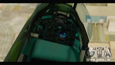 Mikoyan-Gurevich MIG-21UM Vietnam Air Force v2.0 pour GTA San Andreas vue arrière