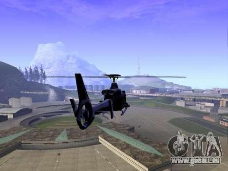 GTA 5 Valkyrie für GTA San Andreas zurück linke Ansicht