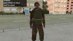 Les soldats de l'armée rouge dans l'armure