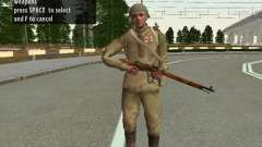Soldaten der roten Armee in den Helm