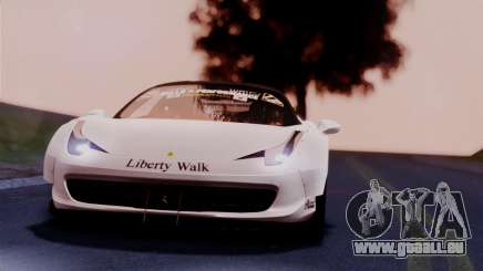 Ferrari 458 Italy Liberty Walk LB Performance pour GTA San Andreas