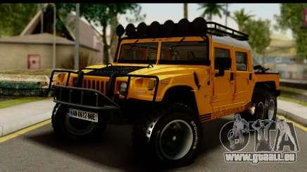 Hummer H1 6-Wheel pour GTA San Andreas