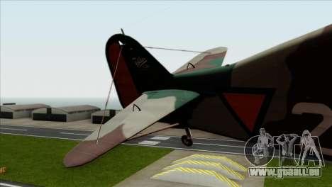 Fokker D.XXI pour GTA San Andreas sur la vue arrière gauche