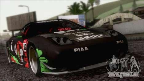 Acura NSX Miku Ghoul Itasha pour GTA San Andreas vue de dessus